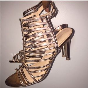 Christian Siriano Gold Heels